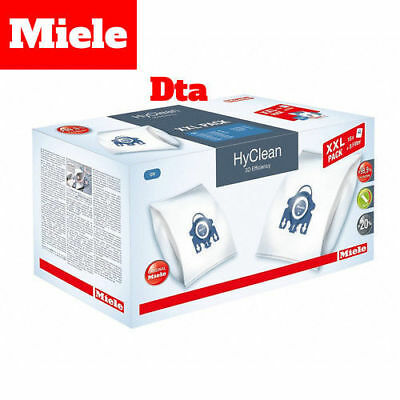 Miele Genuine Vacuum Bags x 16 - Gn Hyclean 3D Efficiency - Filters x 8