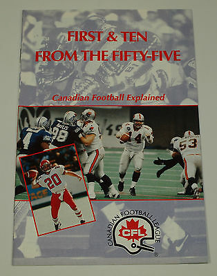 1995 CFL 1st & 10 Booklet NOS Never Circulated US EXPANSION Teams SEE PICS!