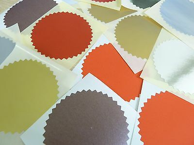 64mm Serrated Certificate Wafer Seals Labels Awards Legal Embossing Stickers