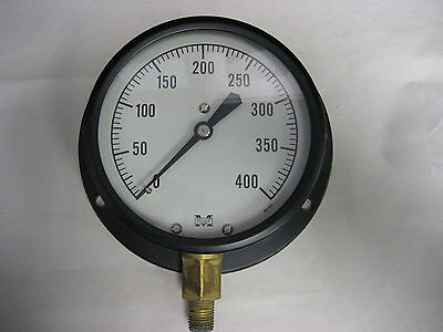 "Marshalltown Pressure Gauge 0-400 PSI 4.5"" Dial 1/4"" Bottom Mount NOS G15005"