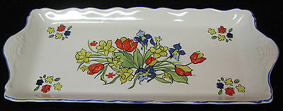 """James Kent, Staffordshire, made in England, Old Foley """"Spring Fair"""" serving tray"""