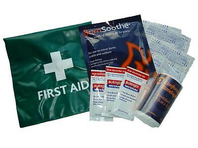 Mini Burns Catering First Aid Kit in Green Vinyl Wallet  **OFFER**