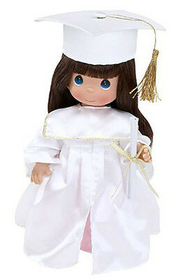 """Precious Moments 12"""" Vinyl Graduation Brunette Doll with Gift Box NWT"""