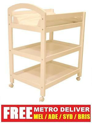 Brand New Wooden White Baby Change Table With Free Change Mat