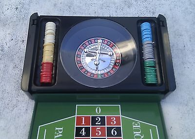 JUEGO DE RULETA de mesa mini casino portatil roulette portable game sobremesa