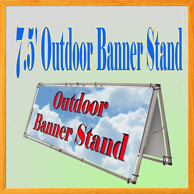 "Aluminum Outdoor A Frame Banner Double Display Stand 79"" x 33"" Portable"