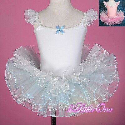 Girl Ballet Tutu Dance Costume Pageant Fairy Dress Up Child Size 3T-7 #042