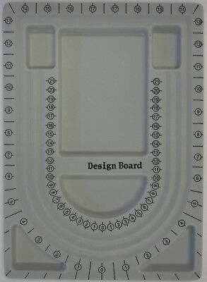 Flocked Bead Design Board 6 Compartments 32x 23cm For Beading Jewellery Making