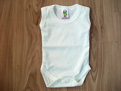 Baby Body Suits/Popper Vests Underwear Sleeveless Newborn,0-3.3-6,6-12,12-18+