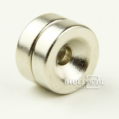2pc D.15mm x 5mm Hole:4mm Super Strong Rare Earth Neo Neodymium Disc Magnets N35