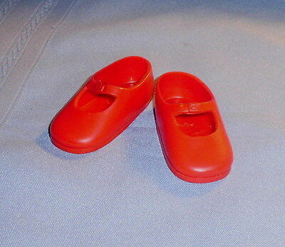 """Vintage Ideal Shirley Temple Red Vinyl Ideal DOLL SHOES  for 16"""" size Doll"""