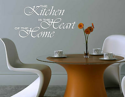 THE KITCHEN IS THE HEART OF THE HOME Quote sticker decal vinyl wall art KHH4
