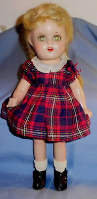 """1930 All Composition 13"""" DOLL  wearing Madame Alexander Doll Clothes"""