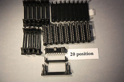 20 Pin female IDC Connector 10 Pcs. made by Rapid Conn