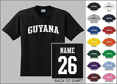 Country Of Guyana Custom Name & Number Personalized Youth T-shirt