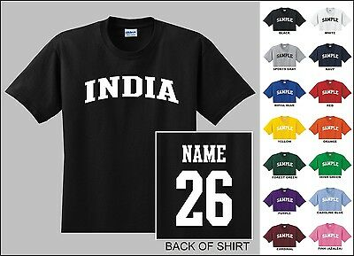 Country Of India Custom Name & Number Personalized Youth T-shirt