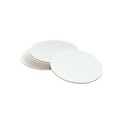 "50 x Cake Boards Round White 10"" Decoration Displays FREE SHIPPING"