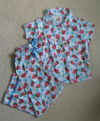 New Mini Boden Cotton Summer Pyjamas Candy Fruit Field 2-10 years Strawberry
