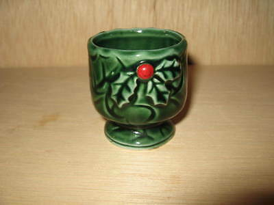 Vintage Lefton Berry And Holly Christmas Candle Holder