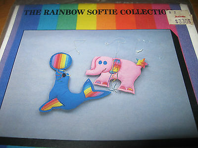 Rainbow Softie Collection Pattern - Elephant & Seal - Mobile