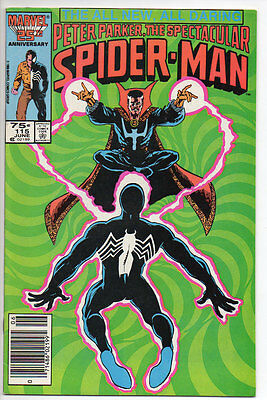 Marvel Comics PETER PARKER SPECTACULAR SPIDER-MAN 1986 #115 B&B VF