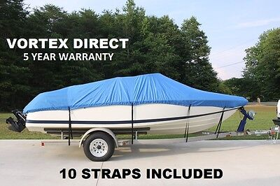 HEAVY DUTY FISHING/SKI/RUNABOUT/BOAT COVER 20-22' BLUE