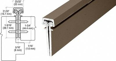 """Dark Bronze Anodized 83"""" Roton 112 Series Concealed Leaf Continuous Hinge"""