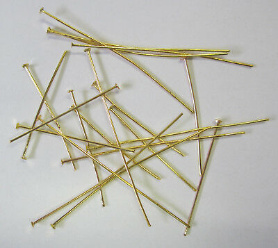 20 Pieces Head Pins In Bright Gold Tone for Beading & Jewellery Making TAR156