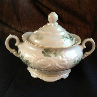 Vintage KPM Royal Ivory, Made in Poland, covered sugar bowl