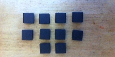 10 of  30 x 30mm square outside dimension Plastic End Caps for metal tube