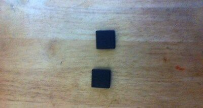 2 of  30 x 30mm square outside dimension Plastic End Caps for metal tube