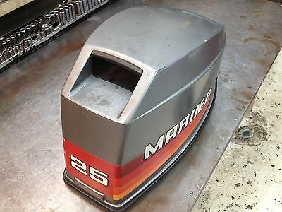 Early 90s Mariner 25 Hp 2 Stroke Outboard Hood Top Cowl Cover Freshwater MN