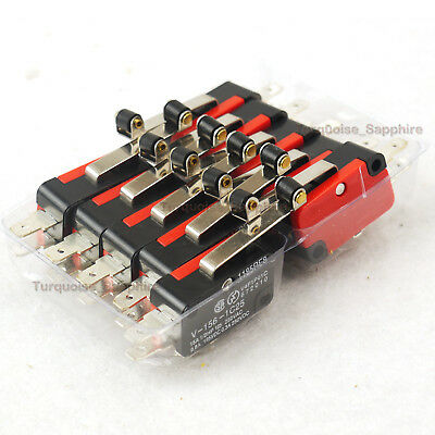 10pcs Limit Switch V-156-1C25 Long Hinge Roller Lever AC DC Micro Switch 15A