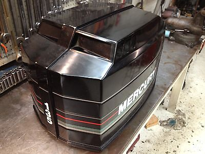 Early 90s Mercury Black Max 135 Hp 2 Stroke Hood Top Cowl Cover Freshwater MN