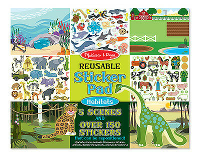 Melissa and Doug Reusable Sticker Pad - Habitats - New! 4196