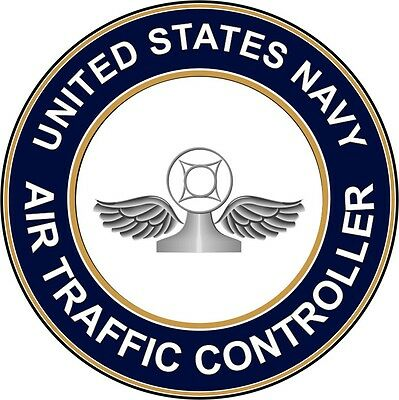 "Navy Air Traffic Controller AC 5.5"" Die Cut Sticker 'Officially Licensed'"