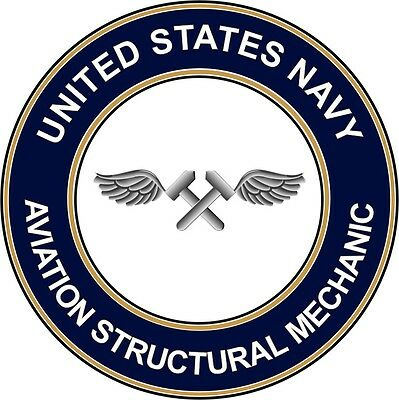 """Navy Aviation Structural Mechanic AM 5.5"""" Sticker 'Officially Licensed'"""