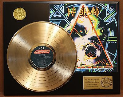 Def Leppard - Hysteria Gold LP Record Display Collectors Edition USA Ships Free