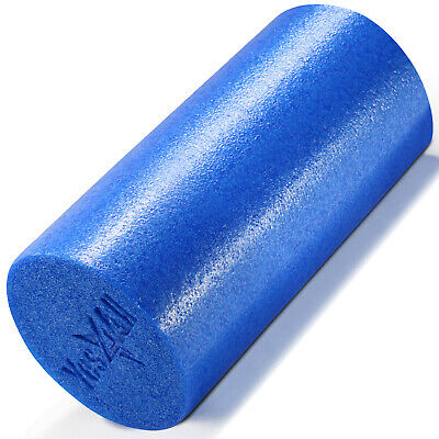 "BLUE High Density Foam Roller -12x6"" YOGA PILATES THERAPY"