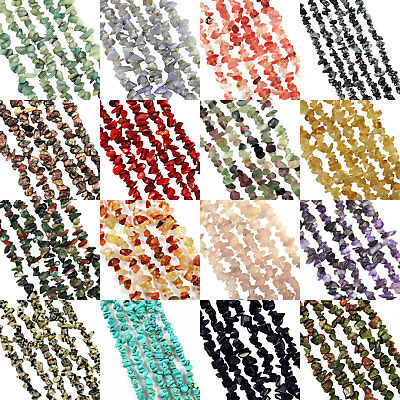"36"" Strand GEMSTONE Crystal Tumble CHIP BEADS 5-9mm (300+ Beads)"