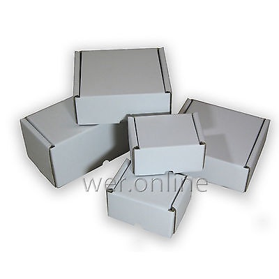 White Postal Cardboard Boxes *multi Listing* Small Mailing Shipping Cartons