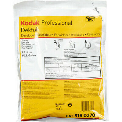 Kodak Dektol B&W Paper Developer Powder makes 1 Gallon #5160270 (1464726)