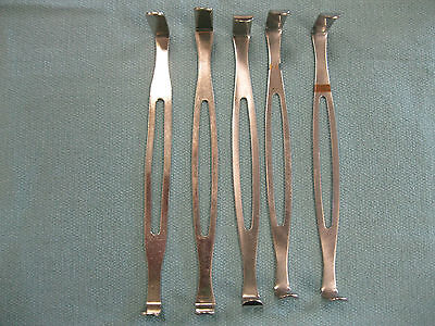Lot Of 5 Army Retractor Surgical Veterinary Instrument