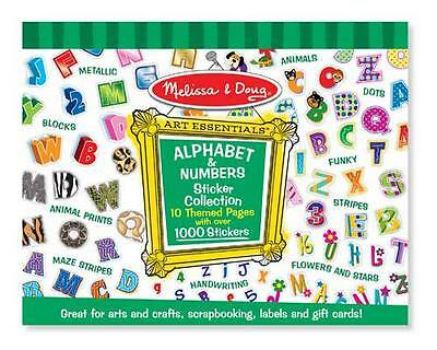 Melissa and Doug Sticker Pad - Alphabet & Numbers - 1000+ stickers! New 4191