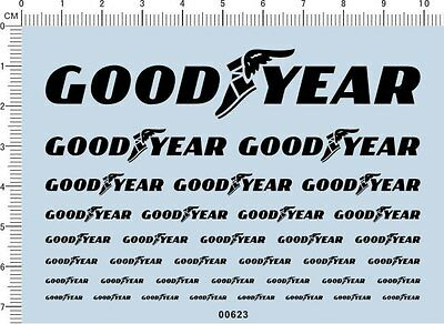decals Goodyear for different scales(black) 00623