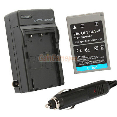 PS-BLS5 PSBLS5 Battery+Charger for Olympus PEN E-P3 E-PL3 E-PM1 EP3 EPL3 EPM1