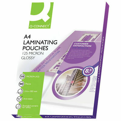 A4 Gloss Laminating Pouches Micron 125 Mic Per Side 250 Choose Pack Size Kf04116