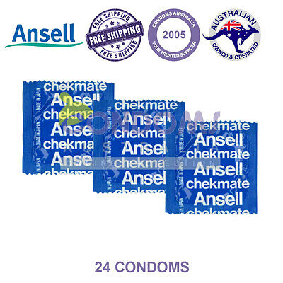 Ansell Chekmate Lubricated (24 Condoms) FREE SHIPPING