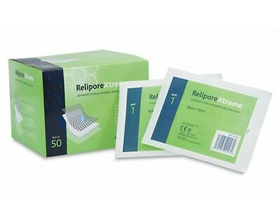 Relipore Xtreme Sterile Adherent Dressing Pads 8cm x 10cm - Various Qty **NEW**