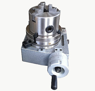 """The adapter and 3 jaw chuck for mounting on a 4"""" rotary table"""